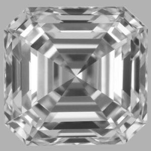Asscher diamond with 1.04 length-to-width ratio