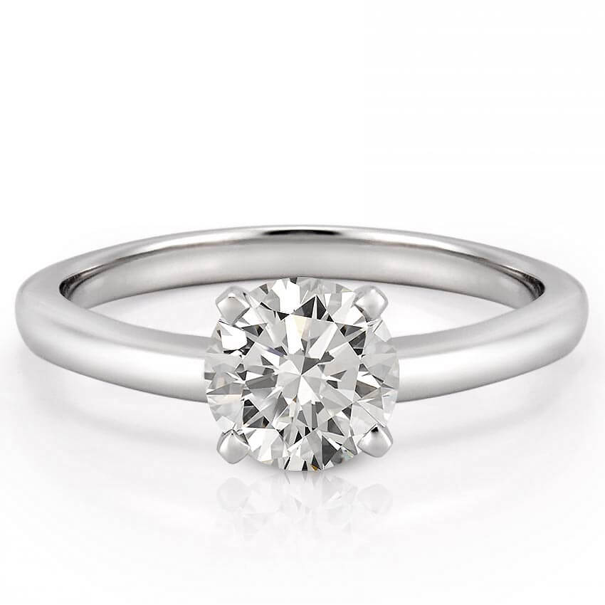 classic four prong round solitaire