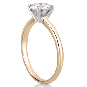 classic comfort fit yellow gold solitaire engagement ring