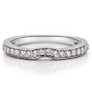 curved engraved katherine band