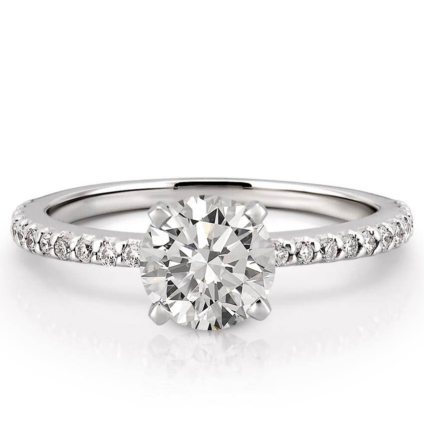 Dainty Engagement Ring Petite Diana Engagement Ring Do