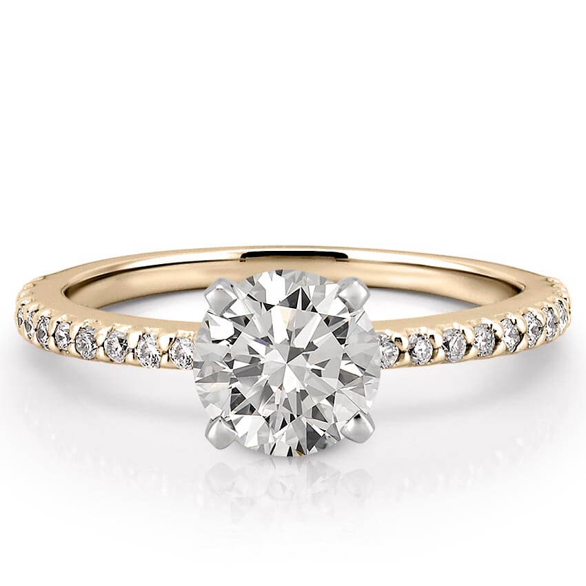 Dainty Engagement Ring Petite Diana Engagement Ring Do Amore