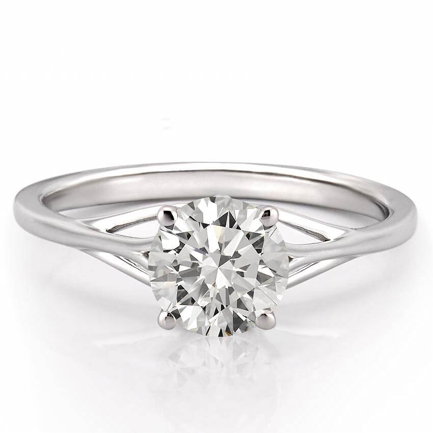 Wedding Ring Piercing: Intricate Split Shank Solitaire