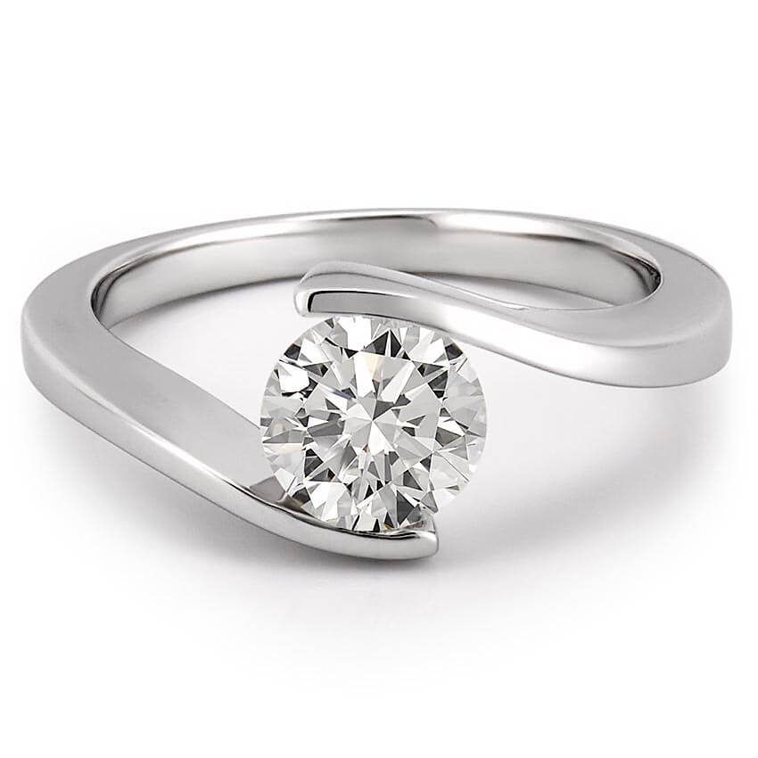 Floating Diamond Ring Floating Diamond Engagement Ring