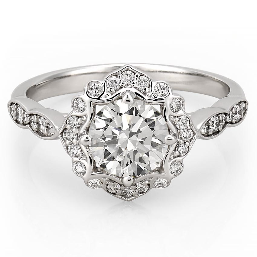 Flower Halo Wedding: Victoria Floral Diamond Ring