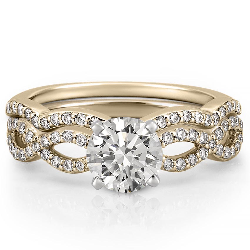 Infinity Engagement Ring Infinity Diamond Ring Do Amore