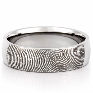 A fingerprint engagement ring is the top engagement ring for men