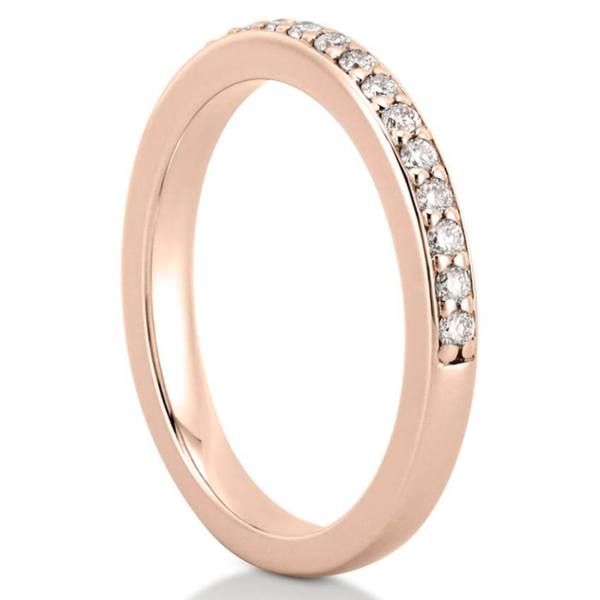 rose gold pave diamond wedding band