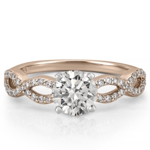 Infinity engagement ring in rose gold