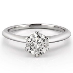 six prong solitaire with claw prongs