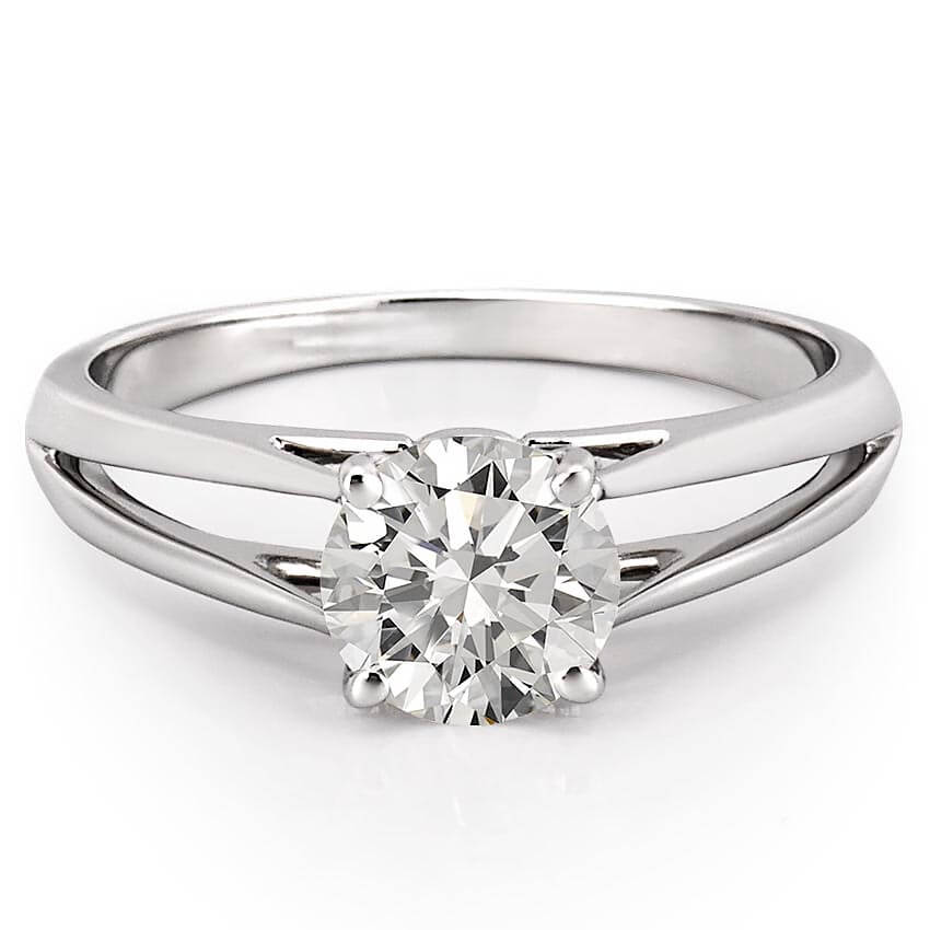 Wedding Ring Piercing: Split Shank Solitaire Engagement Ring