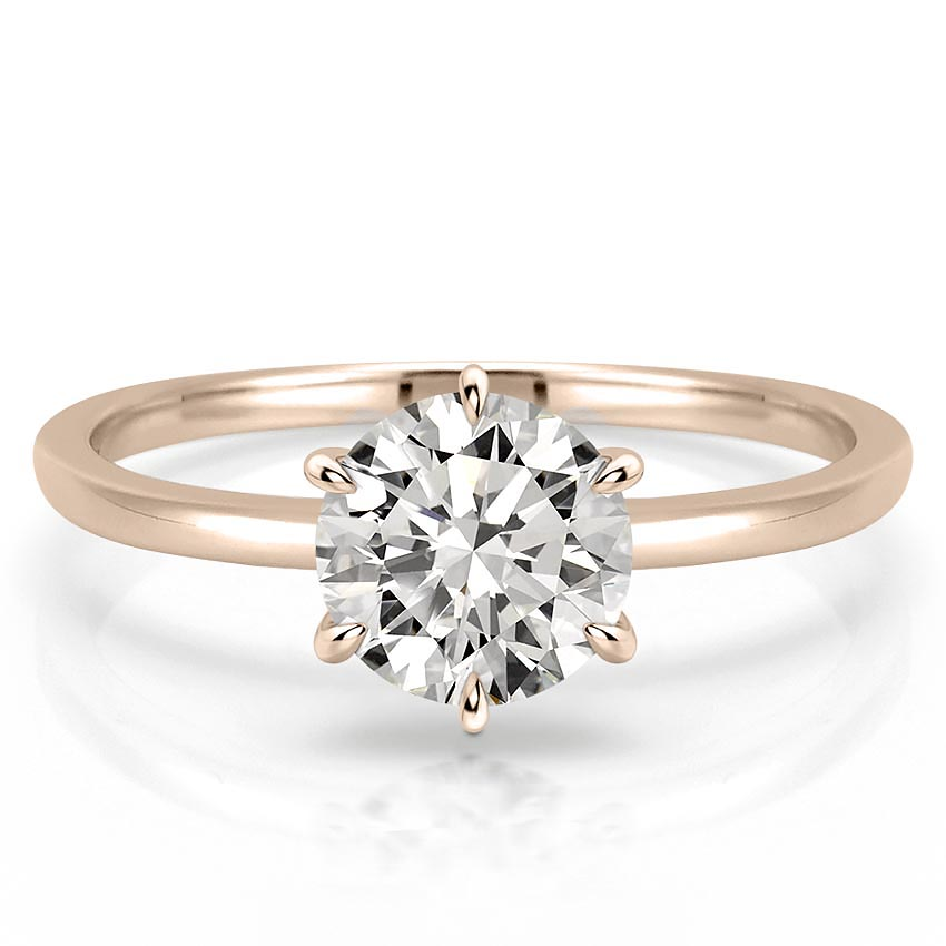 Delicate Solitaire Engagement Ring