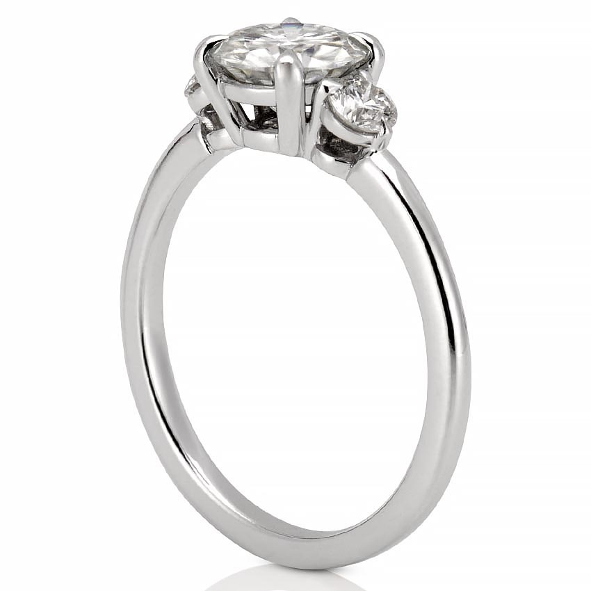 Three Stone Engagement Ring Everly Engagement Ring Do Amore
