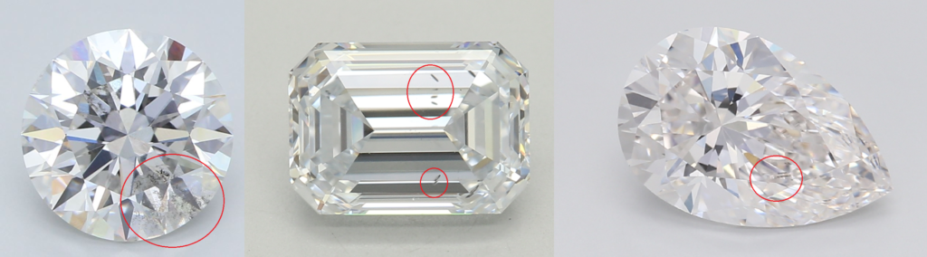 Examples of Lab Diamond Inclusions