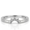 contoured diamond wedding band with crown shape