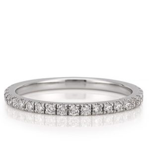 wedding band with micro pave diamonds