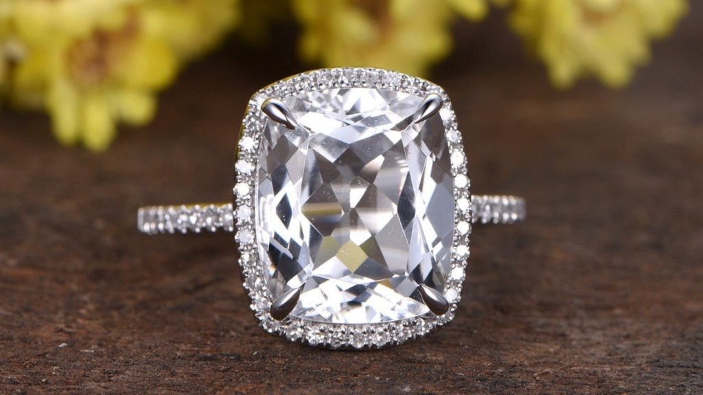 White Sapphire Engagement Rings Archives Do Amore