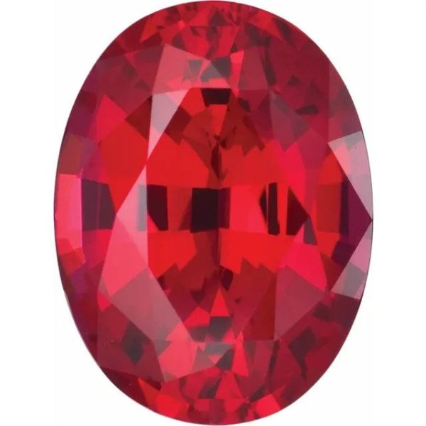 oval lab created chatham ruby gemstone
