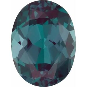 Oval Lab Alexandrite Color Change Green