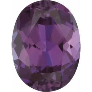 Oval Lab Alexandrite Color Change Purple