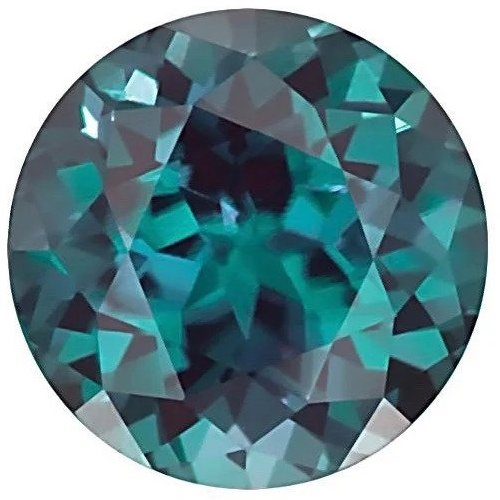 Round Lab Alexandrite Color Change Green