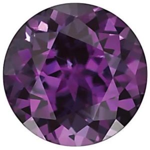 Round Lab Alexandrite Color Change Purple