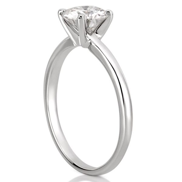 affordable classic solitaire with round lab created diamond in white gold