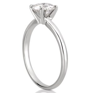 affordable classic solitaire with round hearts and arrows moissanite in white gold