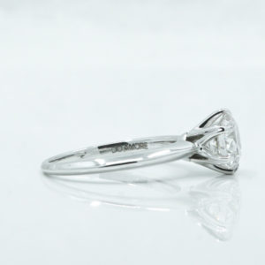 white gold engagement ring with six prongs